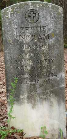 INGRAM (VETERAN WWI), ZETTIE - Lauderdale County, Alabama | ZETTIE INGRAM (VETERAN WWI) - Alabama Gravestone Photos