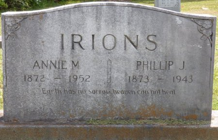 IRIONS, ANNIE M - Lauderdale County, Alabama | ANNIE M IRIONS - Alabama Gravestone Photos