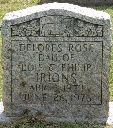 IRIONS, DELORES ROSE - Lauderdale County, Alabama | DELORES ROSE IRIONS - Alabama Gravestone Photos