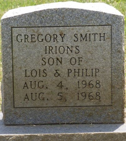 IRIONS, GREGORY SMITH - Lauderdale County, Alabama | GREGORY SMITH IRIONS - Alabama Gravestone Photos