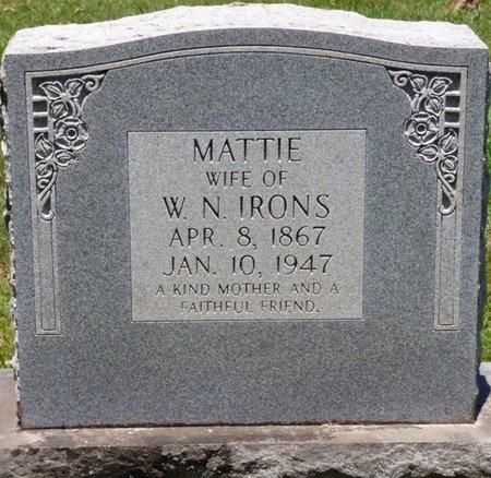 IRIONS, MATTIE - Lauderdale County, Alabama | MATTIE IRIONS - Alabama Gravestone Photos