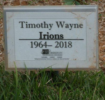"IRIONS, TIMOTHY WAYNE ""TIM"" - Lauderdale County, Alabama | TIMOTHY WAYNE ""TIM"" IRIONS - Alabama Gravestone Photos"