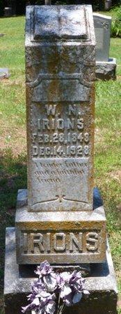 IRIONS, WILLIAM N - Lauderdale County, Alabama | WILLIAM N IRIONS - Alabama Gravestone Photos