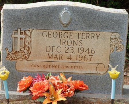 IRONS, GEORGE TERRY - Lauderdale County, Alabama | GEORGE TERRY IRONS - Alabama Gravestone Photos
