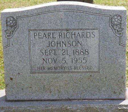 RICHARDS JOHNSON, PEARL - Lauderdale County, Alabama | PEARL RICHARDS JOHNSON - Alabama Gravestone Photos