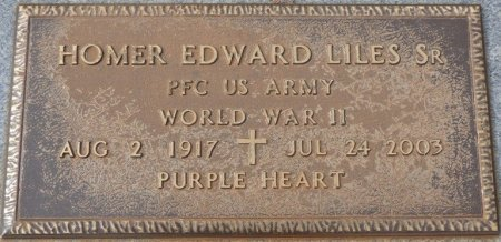 LILES, SR (VETERAN WWII), HOMER EDWARD (NEW) - Lauderdale County, Alabama | HOMER EDWARD (NEW) LILES, SR (VETERAN WWII) - Alabama Gravestone Photos