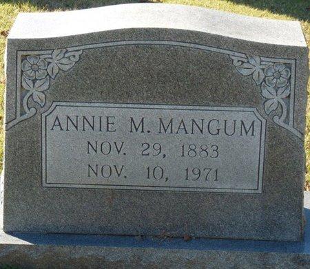 MANGUM, ANNIE M - Lauderdale County, Alabama | ANNIE M MANGUM - Alabama Gravestone Photos
