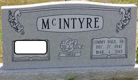 MCINTYRE SR., JIMMY DALE - Lauderdale County, Alabama | JIMMY DALE MCINTYRE SR. - Alabama Gravestone Photos