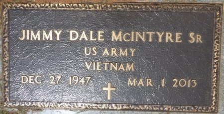 MCINTYRE SR. (VETERAN VIETNAM), JIMMY DALE - Lauderdale County, Alabama | JIMMY DALE MCINTYRE SR. (VETERAN VIETNAM) - Alabama Gravestone Photos