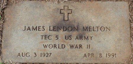 MELTON (VETERAN WWII), JAMES LENDON (NEW) - Lauderdale County, Alabama | JAMES LENDON (NEW) MELTON (VETERAN WWII) - Alabama Gravestone Photos