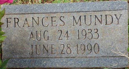 MUNDY, FRANCES - Lauderdale County, Alabama   FRANCES MUNDY - Alabama Gravestone Photos