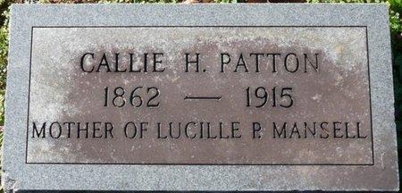 PATTON, CALLIE MARY - Lauderdale County, Alabama | CALLIE MARY PATTON - Alabama Gravestone Photos