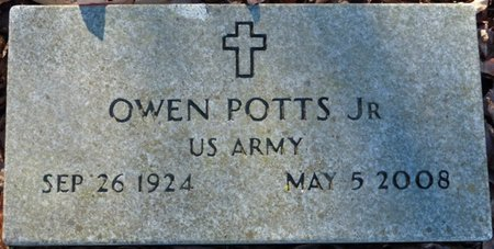 POTTS JR. (VETERAN), OWEN - Lauderdale County, Alabama | OWEN POTTS JR. (VETERAN) - Alabama Gravestone Photos