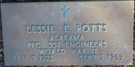 POTTS (VETERAN WWII), LESSIE E - Lauderdale County, Alabama | LESSIE E POTTS (VETERAN WWII) - Alabama Gravestone Photos
