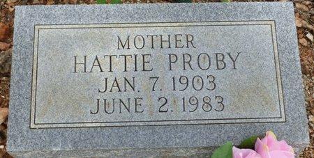 PROBY, HATTIE - Lauderdale County, Alabama | HATTIE PROBY - Alabama Gravestone Photos