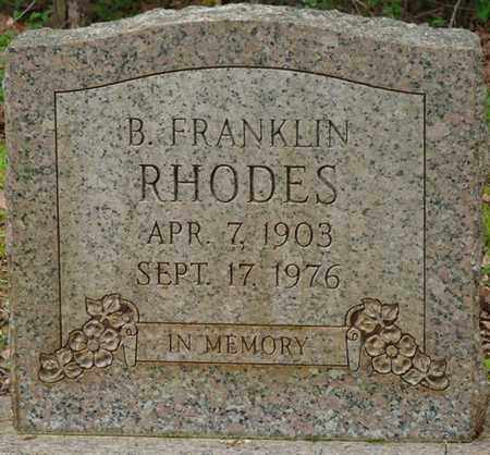 RHODES, B. FRANKLIN - Lauderdale County, Alabama | B. FRANKLIN RHODES - Alabama Gravestone Photos