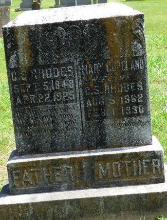 RHODES, MARY L - Lauderdale County, Alabama   MARY L RHODES - Alabama Gravestone Photos
