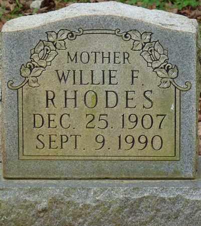 RHODES, WILLIE F - Lauderdale County, Alabama | WILLIE F RHODES - Alabama Gravestone Photos
