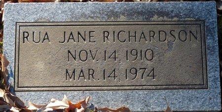 RICHARDSON, RUA JANE - Lauderdale County, Alabama | RUA JANE RICHARDSON - Alabama Gravestone Photos