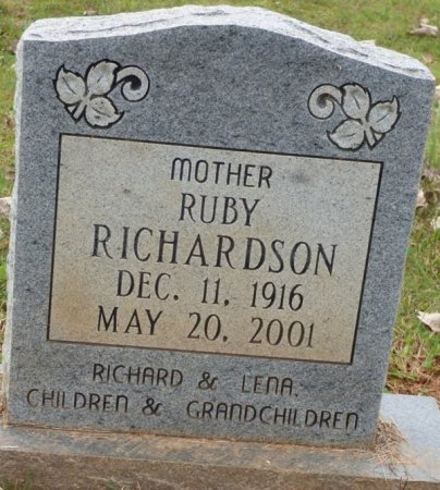 RICHARDSON, RUBY - Lauderdale County, Alabama | RUBY RICHARDSON - Alabama Gravestone Photos