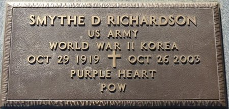 RICHARDSON (VETERAN WWII-KOREA, SMYTHE DAVID - Lauderdale County, Alabama | SMYTHE DAVID RICHARDSON (VETERAN WWII-KOREA - Alabama Gravestone Photos