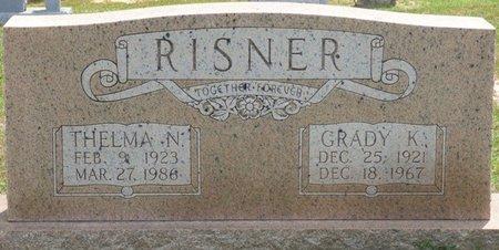 RISNER, GRADY K - Lauderdale County, Alabama | GRADY K RISNER - Alabama Gravestone Photos