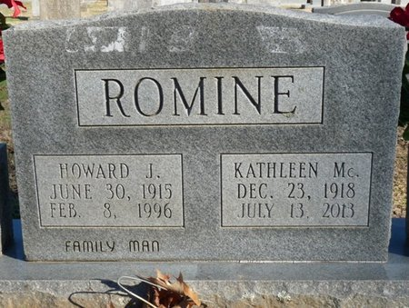 ROMINE, HOWARD J - Lauderdale County, Alabama   HOWARD J ROMINE - Alabama Gravestone Photos