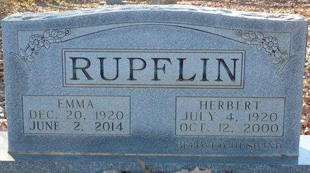 RUPFLIN, EMMA - Lauderdale County, Alabama   EMMA RUPFLIN - Alabama Gravestone Photos