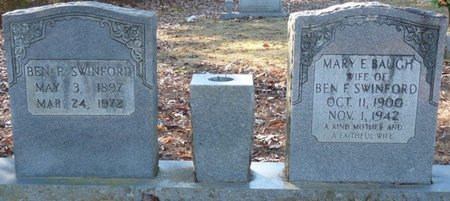 BAUGH SWINFORD, MARY E - Lauderdale County, Alabama | MARY E BAUGH SWINFORD - Alabama Gravestone Photos