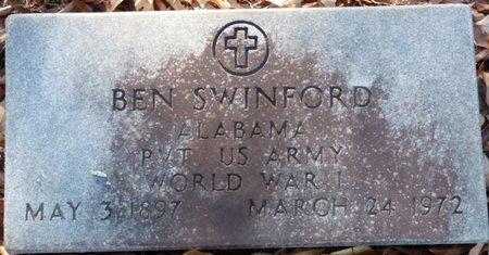 SWINFORD (VETERAN WWI), BENJAMIN FRANKLIN - Lauderdale County, Alabama   BENJAMIN FRANKLIN SWINFORD (VETERAN WWI) - Alabama Gravestone Photos