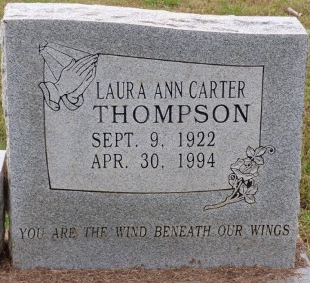 THOMPSON, LAURA ANN - Lauderdale County, Alabama | LAURA ANN THOMPSON - Alabama Gravestone Photos
