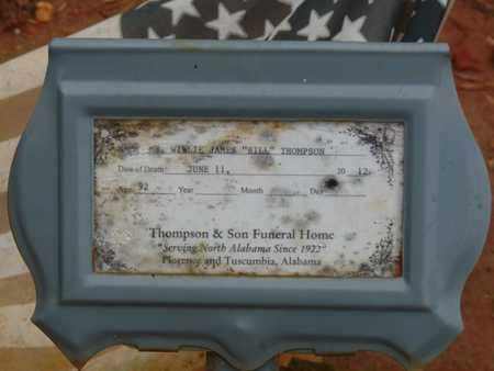 """THOMPSON, WILLIE JAMES """"BILL"""" - Lauderdale County, Alabama 