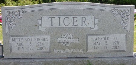 RHODES TICER, BETTY FAYE - Lauderdale County, Alabama | BETTY FAYE RHODES TICER - Alabama Gravestone Photos