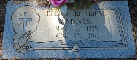 HOUSE VANDIVER, DEBRA JO - Lauderdale County, Alabama   DEBRA JO HOUSE VANDIVER - Alabama Gravestone Photos