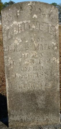 WATERS, ADALINE B - Lauderdale County, Alabama | ADALINE B WATERS - Alabama Gravestone Photos