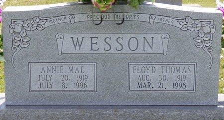 WESSON, FLOYD THOMAS - Lauderdale County, Alabama | FLOYD THOMAS WESSON - Alabama Gravestone Photos