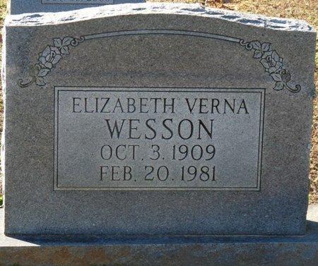 WESSON, ELIZABETH VERNA - Lauderdale County, Alabama | ELIZABETH VERNA WESSON - Alabama Gravestone Photos