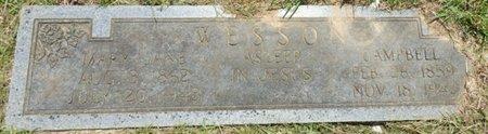 WESSON, MARY JANE - Lauderdale County, Alabama   MARY JANE WESSON - Alabama Gravestone Photos