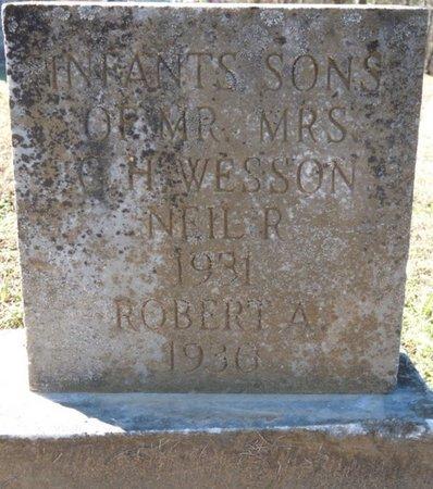 WESSON, ROBERT A - Lauderdale County, Alabama   ROBERT A WESSON - Alabama Gravestone Photos