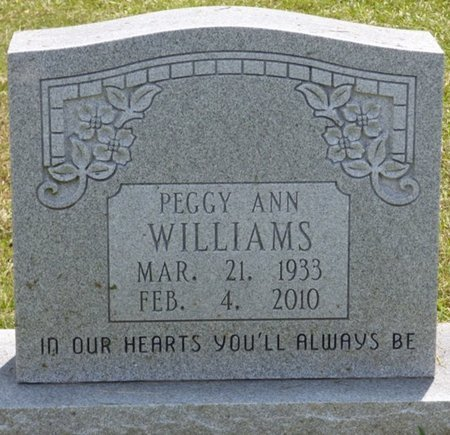WILLIAMS, PEGGY ANN - Lauderdale County, Alabama | PEGGY ANN WILLIAMS - Alabama Gravestone Photos
