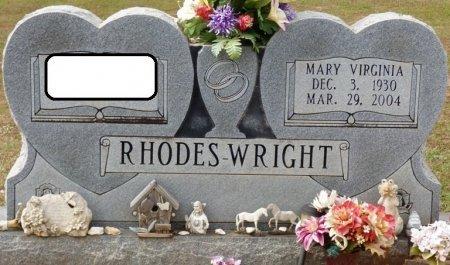 WHITE WRIGHT, MARY VIRGINIA - Lauderdale County, Alabama | MARY VIRGINIA WHITE WRIGHT - Alabama Gravestone Photos