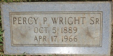 WRIGHT SR., PERCY P - Lauderdale County, Alabama | PERCY P WRIGHT SR. - Alabama Gravestone Photos