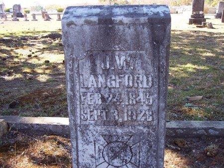 LANGFORD, J.W. - Macon County, Alabama | J.W. LANGFORD - Alabama Gravestone Photos