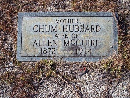 HUBBARD MCGUIRE, CHUM - Macon County, Alabama   CHUM HUBBARD MCGUIRE - Alabama Gravestone Photos