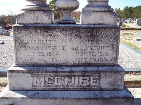 CHAPMAN MCGUIRE, NANCY ARAMINTA - Macon County, Alabama | NANCY ARAMINTA CHAPMAN MCGUIRE - Alabama Gravestone Photos
