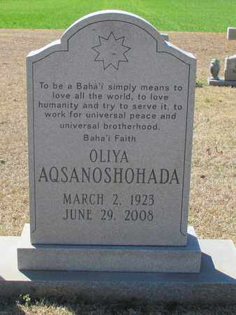 AQSANOSHOHADA (CLOSE UP), OLIYA - Madison County, Alabama | OLIYA AQSANOSHOHADA (CLOSE UP) - Alabama Gravestone Photos