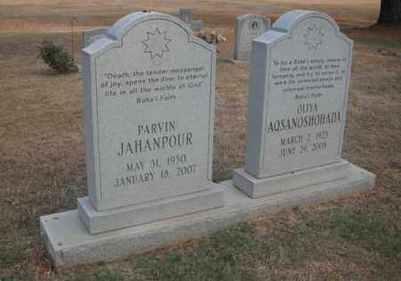 JAHANPOUR, PARVIN - Madison County, Alabama | PARVIN JAHANPOUR - Alabama Gravestone Photos