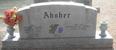 ABSHER, ARCHIE CLINE - Madison County, Alabama   ARCHIE CLINE ABSHER - Alabama Gravestone Photos