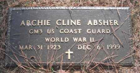 ABSHER (VETERAN WWII), ARCHIE CLINE - Madison County, Alabama   ARCHIE CLINE ABSHER (VETERAN WWII) - Alabama Gravestone Photos