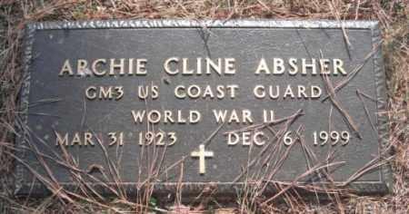 ABSHER (VETERAN WWII), ARCHIE CLINE - Madison County, Alabama | ARCHIE CLINE ABSHER (VETERAN WWII) - Alabama Gravestone Photos